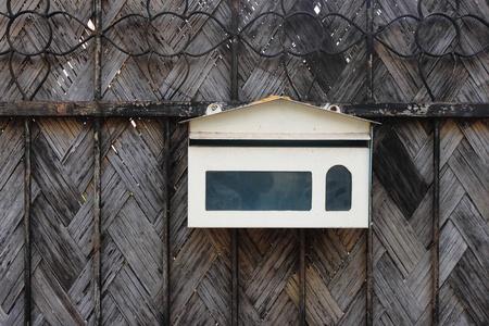 old post box on old door