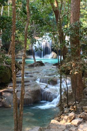 Erawan Waterfall, Kanchanaburi, Thailand Stock Photo - 12647421
