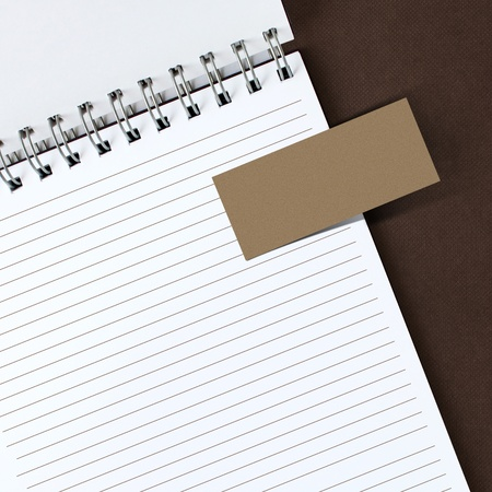 note paper on notebook