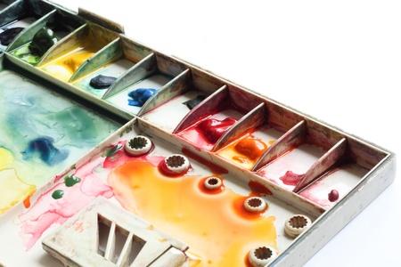 watercolor palette  Stock Photo