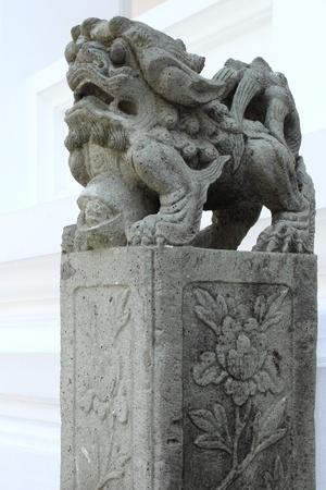 Chinese Lion Statue Stock Photo