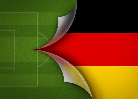 soccer field on germany flag