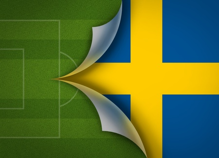 bandera de suecia: campo de f�tbol en la Bandera de Suecia