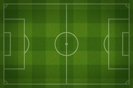 aerial: campo da calcio Archivio Fotografico
