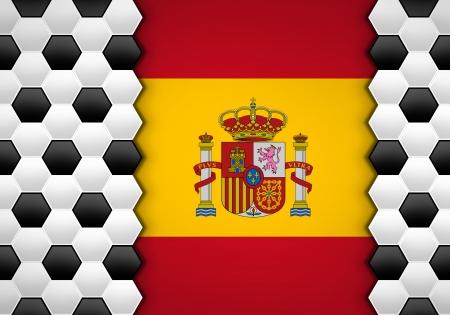 soccer ball pattern on spain flag photo