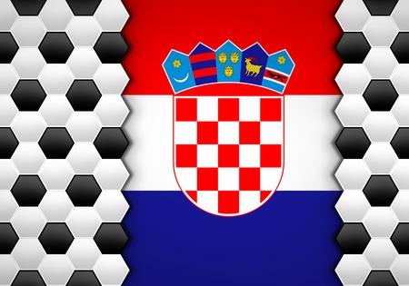 bandiera croazia: calcio, palla sul modello Croazia bandiera