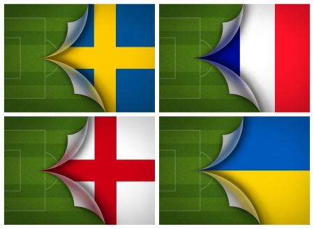 soccer field on flag of Group D UEFA Euro football Cup 2012 photo