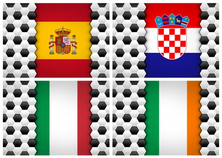 soccer ball pattern on flag of Group C UEFA Euro football Cup 2012 photo