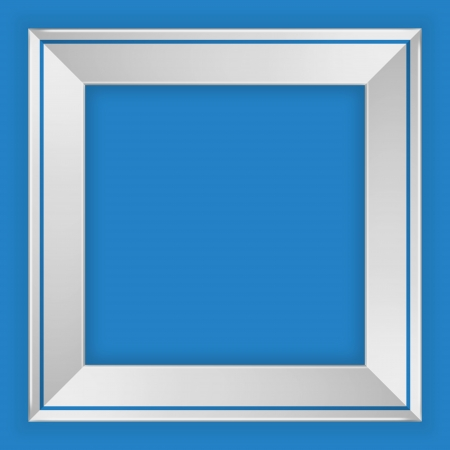 blue picture frame photo