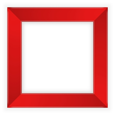 red picture frame Stock Photo - 15490689