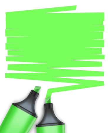 highlighter pen with text box Stock Photo - 15648400