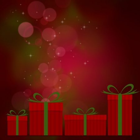 Gift box with bokeh light background Stock Photo