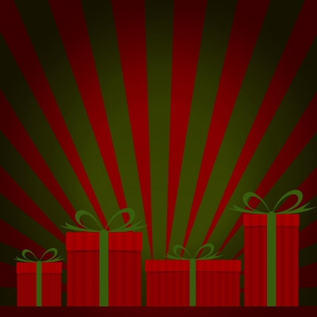 Gift box with ray background Stock Photo - 15894190