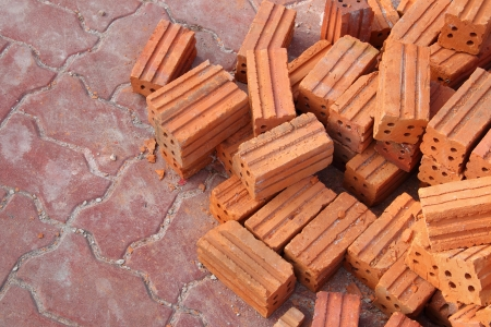 Stack of bricks  photo