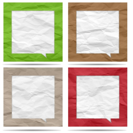 Crumpled paper bubble for speech Stock Photo - 19927863