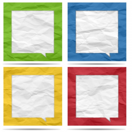 Crumpled paper bubble for speech Stock Photo - 19927834