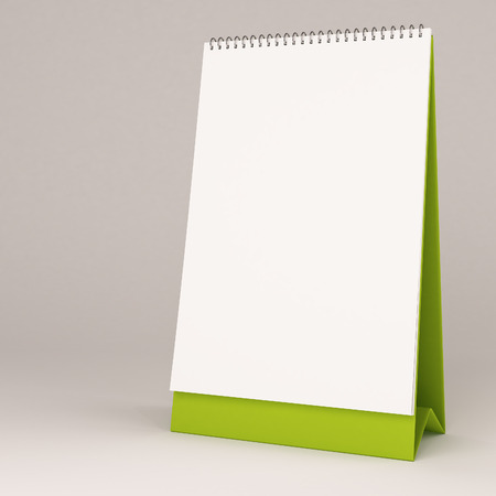 3d white blank calendar photo