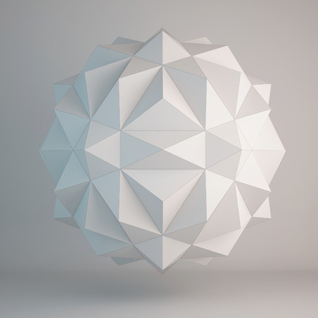 3d illustration of geometric shapes design Stock Photo