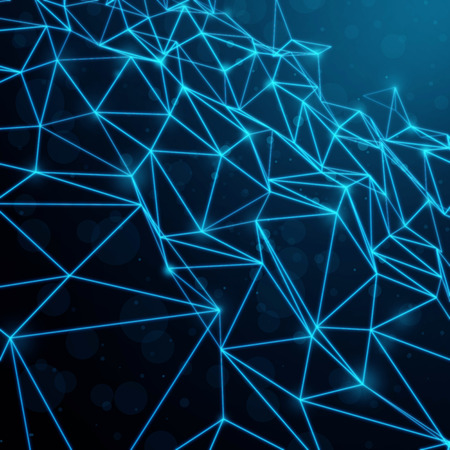 mesh: Blue Abstract Technology Mesh Background Stock Photo