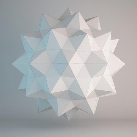 3d illustration of geometric shapes design Stock Photo