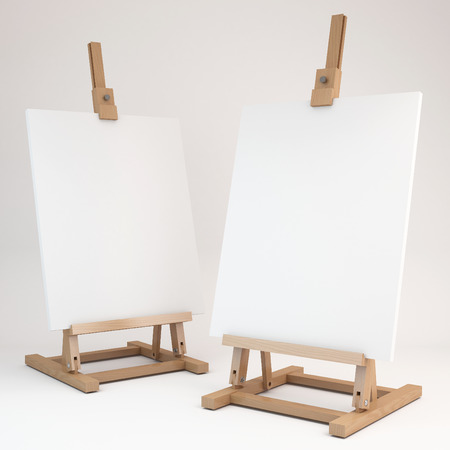 3d rendering of a wooden easel