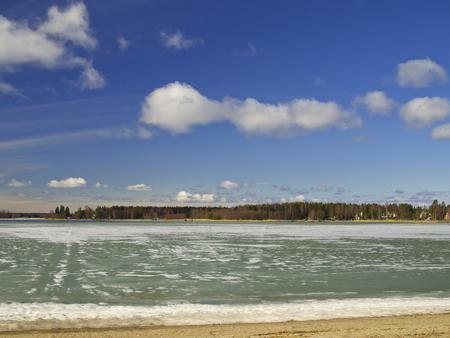 melting: Melting Ice In Spring Stock Photo