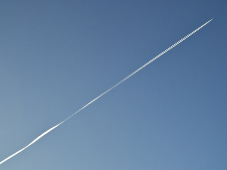 contrail: Contrail In Blue Sky