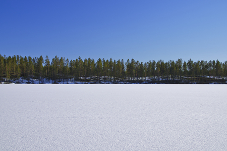frozen lake: Frozen Lake And Blue SKy