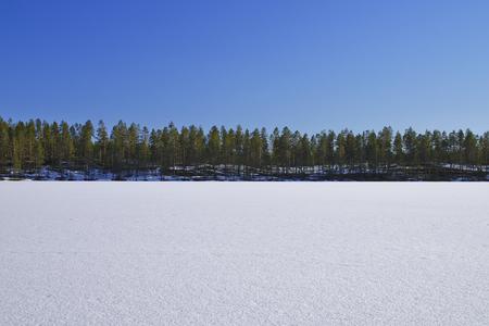 frozen lake: Frozen Lake And Blue SKy