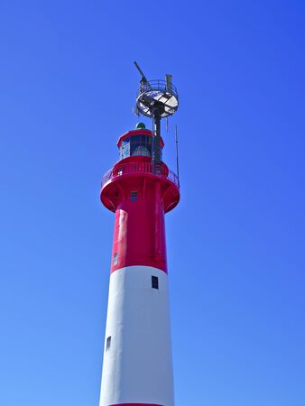 Old Finnish lighthouse painted red and white