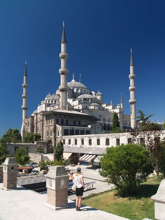 camii: Main mosque of Istanbul - Sultan Ahmet camii. Most famous as Blue mosque.