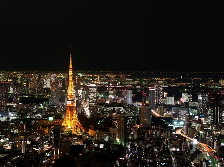 night view: Tokyo tower, Japan