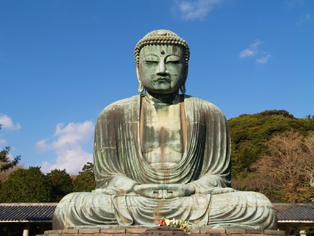 kamakura: Japan, Kamakura, Great Buddha statue, Japan Stock Photo