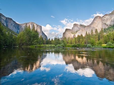 Beautiful scenery at Yosemite National Park, California photo