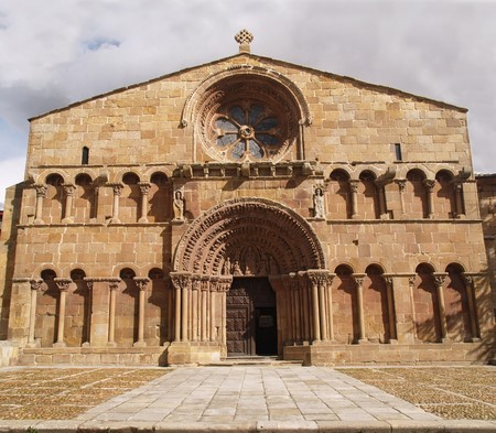 santo: Santo Domingo church in Soria, Spain Stock Photo