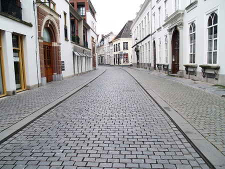 breda: A street in Breda in the province of Brabant, Netherlands Stock Photo