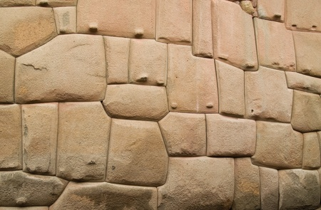 cusco: Inca stone wall, Cusco Stock Photo
