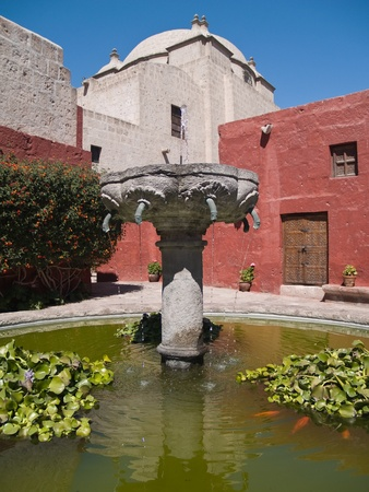 catherine: Monastery of St. Catherine at Arequipa, Peru Stock Photo