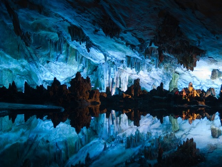 realm: Flute cavern in Guiling, China