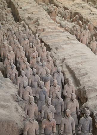 guerrieri di terracotta di Xian, in Cina Archivio Fotografico - 8590090