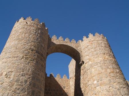 Medieval city walls in Avila, Spain photo