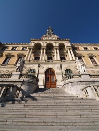 Ayuntamiento de la ciudad de Bilbao, Vizcaya, Espa�a Foto de archivo - 8646380