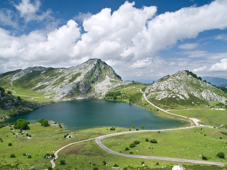 covadonga: Covadonga Lakes in Asturias, Spain Stock Photo