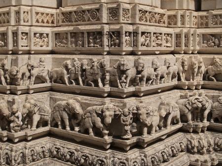 jainism: Jain temple in Udaipur Stock Photo