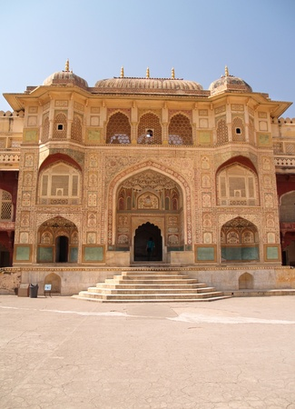 shifted: Located in Amber, 11 km from Jaipur, Rajasthan state, India. It was the ancient citadel of the ruling Kachhawa clan of Amber, before the capital was shifted to present day Jaipur. Amber Fort is known for its unique artistic style, blending both Hindu and