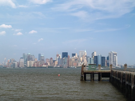 New York City Skyline view from the Liberty Island Stock Photo - 9101605