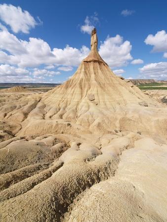 tierra: Castil de tierra, most famous landmark of Bardenas desert, in Spain