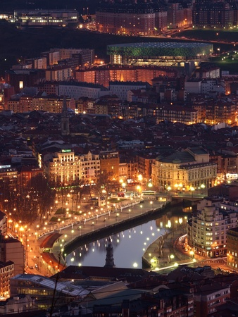 basque country: Bilbao at Twilight, Basque Country, Spain
