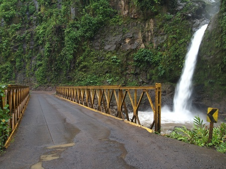 The  La Paz waterfalls in Costa Rica  photo