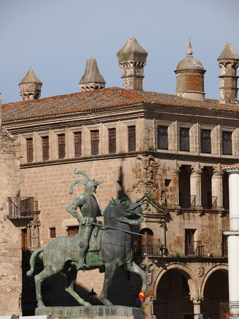 pizarro: The old town in Trujillo is a Unesco protected heritage site, Caceres, Spain Editorial